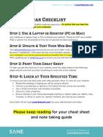 Setpoint Webinar Pre Event Checklist