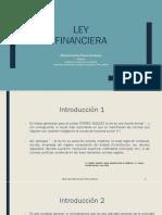 LEY FINANCIERA