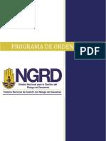 Norma Programa de Orden y Aseo