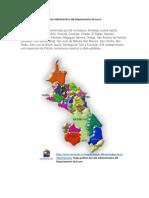 Mapa Político División Administrativa Del Departamento de Sucre