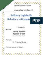 Politica y Legislacion