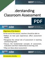 Understanding Classroom Assessment