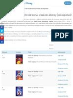 Lista oficial y completa de los 58 Clásicos Disney (en español)