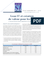 Lean Et SI Et Creation de Valeur