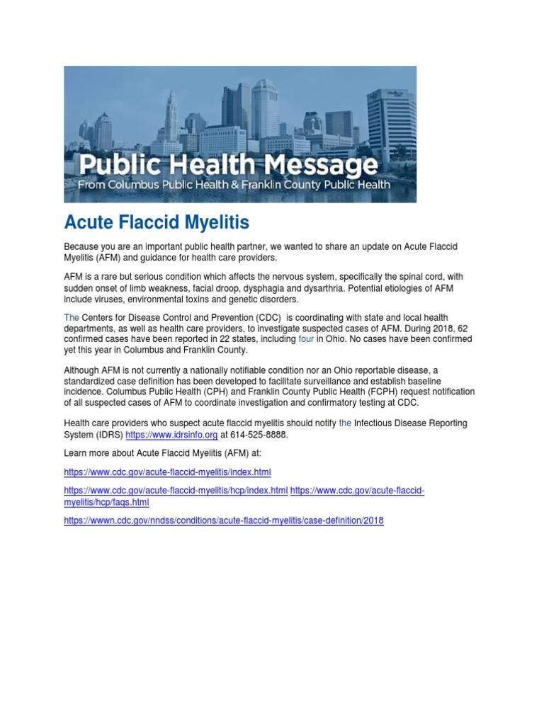Acute Flaccid Myelitis_102218