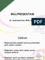 Anzdoc.com Malpresentasi Dr Hydrawati Sari Mce Spog