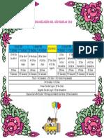Calendarización Del Año Escolar 2018