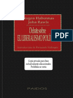 Jurgen Habermas, John Rawls-Debate Sobre El Liberalismo Político-Ediciones Paidos Iberica (1998).pdf