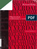 Richard Rorty-Objetividad, Relativismo Y Verdad (Spanish Edition)-Ediciones Paidos Iberica (1996).pdf