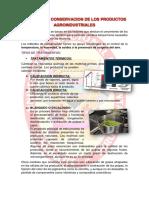 Metodos de Conservacion de Los Productos Agroindustriales Quimica