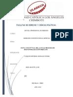 Mapa Conceptualel Del Actual Proceso de Descentralizacion Peruana