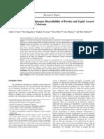 A Comparison of the Pulmonary Bio Availability of Powder and Liquid Aerosol Formulations of Salmon Calcitonin