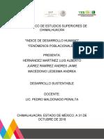 Fenomenos Poblacionales e Indice de Desarrollo Humano