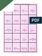 Bingo Ecuaciones Nivel 2