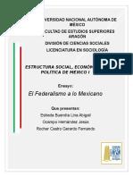Federalismo Mexicano Ensayo Def.