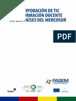 La Incorporacion de TIC en La Formacion Docente de Los Países Del Mercosur