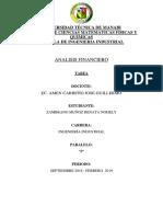 ANALISIS FINANCIERO EJERCICIOS