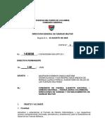 Directiva Permanente 140 Historia Clinica 2009