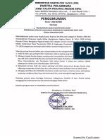 Jadwal Seleksi Kompetensi Dasar - CPNS Kab. Gayo Lues 2018