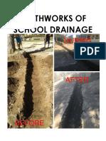 Earthworks of School Drainage