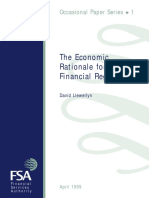 The Economic Rationale for Financial Regulation
