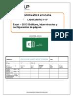 Lab 07 Excel 2013 Graficos Hipervinculos y Configuracion de Impresion