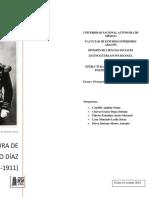 La dictadura de Porfírio Díaz