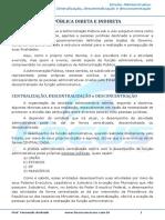 Administração direta e indireta Centralização, descentralização e desconcentração - 002759.pdf