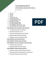 List Menu Latihan Archicad