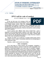 IFWJ Call for Code of Conduct