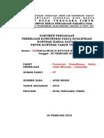 07. DOK LELANG Preservasi Pemelihraan Rutin Jalan Waerunu - Larantuka Ok
