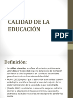 Calidad de La Educación
