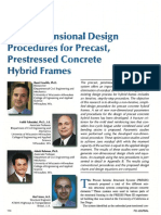 Non-Dimensional Design Procedures for Precast Prestressed Concrete Hybrid Frames