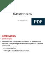 Amnioinfusion Dr Padmesh