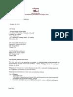 Fed Prov Funding Letter - Calgary 2026 - October 30-18