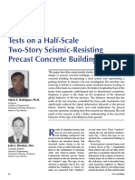 Tests on a Half-Scale Two-Story Seismic-Resisting Precast Concrete Building