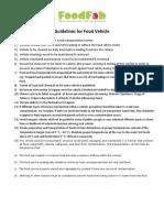 Guildelines for Food Vehicle