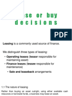 Lease or Buy Decision
