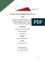 Analisis Matematico III Vectores
