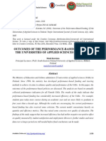 OUTCOMES OF THE PERFORMANCE-BASED FUNDING OF THE UNIVERSITIES OF APPLIED SCIENCES IN FINLAND