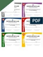 Certificado de Clases Regulares