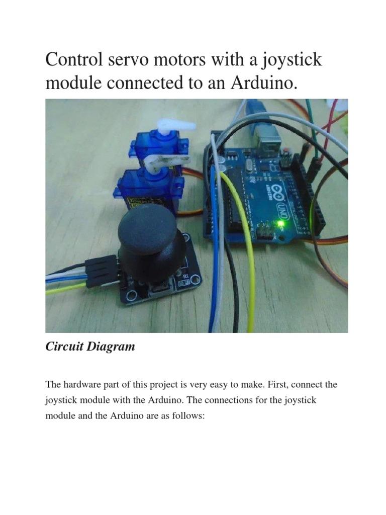 control servo motors with joystick | Arduino | Servomechanism
