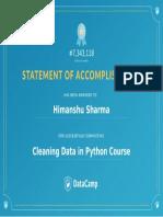 Cleaning Data Certi