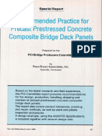 Recommended Practice for Precast Prestressed Concrete Composite Bridge Deck Panels