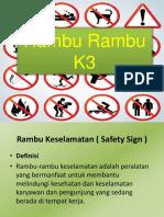 Presentasi Rambu Rambu K3
