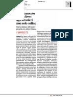 Insegnamento degli italiani a stranieri, non solo online - Il Corriere Adriatico del 30 ottobre 2018
