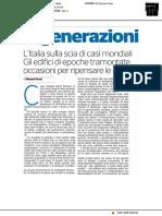 Rigenerazioni - Il Corriere della Sera del 31 ottobre 2018