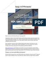 Harga ACP Permeter Hp. 0812 3353 5597