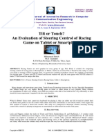 Tilt or Touch? an Evaluation of Steering Control of Racing Game on Tablet or Smartphone