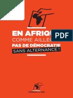 Rapport - Tournons la page - En Afrique, comme ailleurs, pas de démocratie sans alternance (2015)